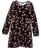 Priscilla Printed Velour Dress (Big Kids)
