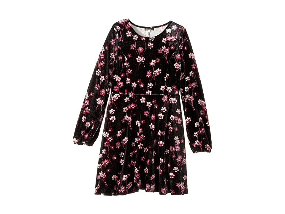 Ella Moss Girl Priscilla Printed Velour Dress (Big Kids) (Print) Girl