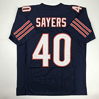 Unsigned Gale Sayers Chicago Blue Custom Stitched Football Jersey Size Men`s XL New No Brands/Logos