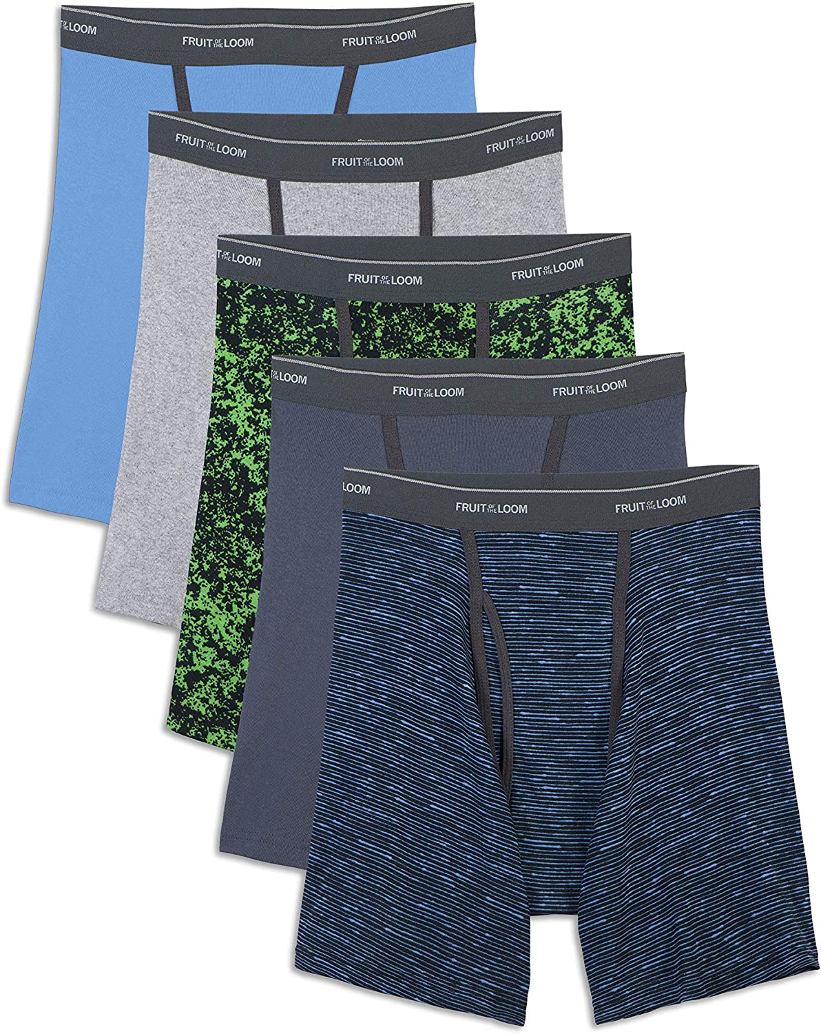 Pack of 5 Fruit of the Loom Mens Fashion Briefs