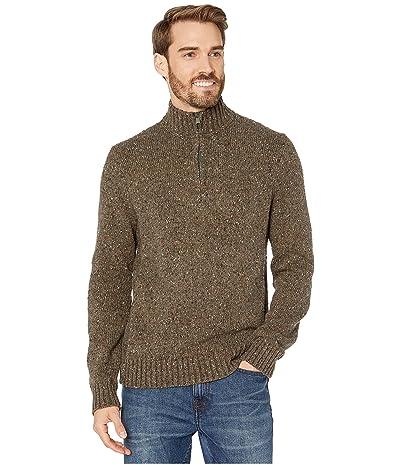 Lucky Brand Donegal Half Zip Mock Sweater (Heather Olive) Men
