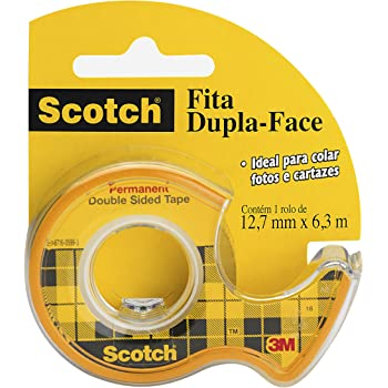 Scotch Double Sided Tape with Dispenser, Narrow Width, Engineered for Holding, 1/2 x 250 Inches (136)