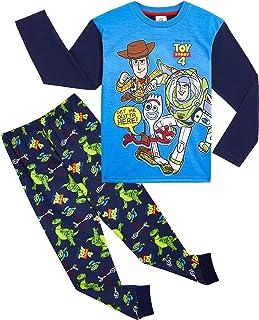 Disney Toy Story 4 Pijama Niño, Pijamas Niños Manga Larga con Personajes Buzz Lightyear Woody y Forky, Ropa Niño de Dormir...