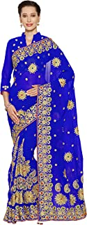 Mirchi Fashion Women's Faux Georgette Bridal Wedding Saree (4075_with Color Options)