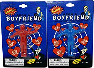 Grow A Boyfriend Water Growing Toys 2 Pack: 1 Blue, 1 Red
