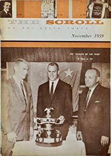 1959 - The Scroll of Phi Delta Theta - Nov - 96 Pages - Eddie Dove/Gordie Soltau/Bill Corbus - Plus More - Collectible - Rare