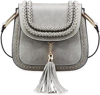 Tom Clovers Womens Vintage Tassel Saddle Shoulder Bag Crossbody Bag Sling Bag Shopping Travel Satchel