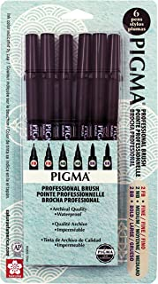 SAKURA Pigma Professional Brush Drawing Pen, Fb Fine, Mb Medium & BB Bold tip, Black