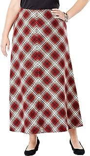 Women's Plus Size Wool-Blend Maxi Skirt