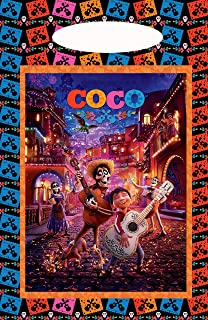 "Coco and Miguel Loot Goody Goodie Gift Bag, 6.5"" x 10"" Pearly Plastic, Partyware Party Favor Bag for Pinata Candy Decorations -10 pcs, Halloween, Skeleton, Day of The Dead Party, Dia do Los Muertos"