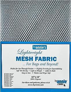 by Annie Lightweight Mesh Fabric 18'' x 54'' Craft Supplies
