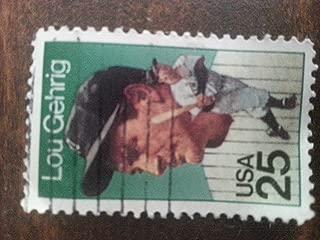 .25 Lou Gehrig postage stamp