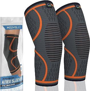 Modvel 2 Pack Knee Compression Sleeve | Knee Brace for Men & Women | Knee Support for..