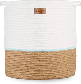 HomyCraft Extra Large Cotton Rope Basket 18x18x16