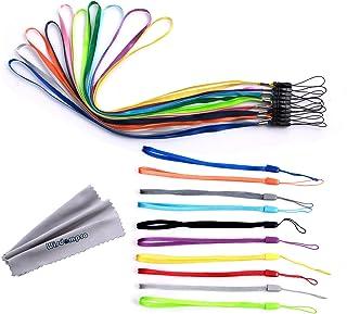 Wisdompro Lot de 20cordons colorés pour poignet/cou pour clés USB, clés, porte-clés, badge d'identité, jeu vidéo Longueur...