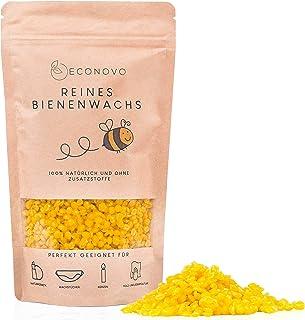 Econovo zertifiziertes Bienenwachs ohne Zusätze - 500g gelbe Bienenwachs Pastillen vom Imker für Kosmetik, Bienenwachstücher, Kerzen, Holz- und Lederpflege inkl. E-Book mit Rezepten