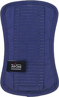 All Clad Textiles Premium Collection Heavyweight 100% algodón Sarga y Silicona Pot Holder, Cobalto