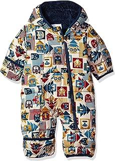 FEOYA Babys Snowsuit Elastic Cuffs Cute Bear One Piece Puffer Coat