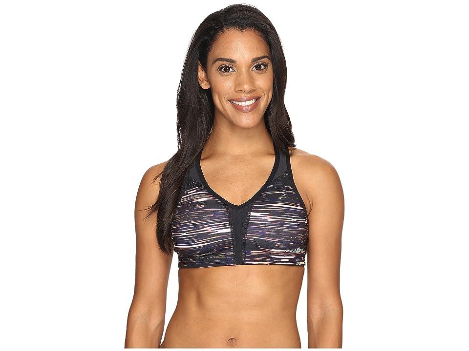 ffdb1603f6 New Balance Power Bra Printed (Multi Intensity Stripe Black) Women