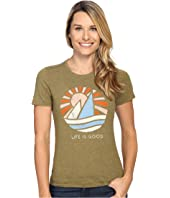Life is Good - Life is Good® Sail Boat Cool Tee