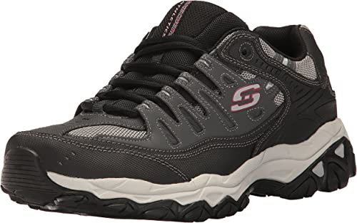 Skechers Sport Hommes's Afterburn Memory Foam Lace-Up Lace-Up Lace-Up paniers,Charcoal noir,7 M US 3ad