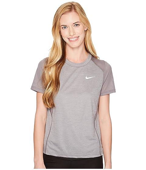 Nike Dry Miler Short-Sleeve Running Top Gunsmoke/Heather Discount 100% Authentic Free Shipping Great Deals 7ydUW8IA7R