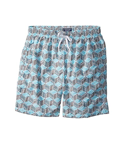 ffbdf65045 Vilebrequin Kids Fishes Cube Swim Trunk (Big Kids) at Zappos.com