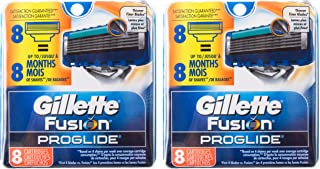 Gillette Fusion ProGlide Manual Razor Replacement Cartridge-16 Count ( 2 Packs of 8)