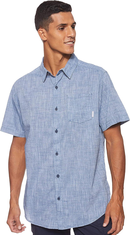 Columbia Men's New product! New type Under Exposure Yarn Sleeve Short Very popular Shirt Dye