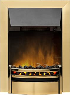 Dimplex KNS20BR Kansas Electric Inset Fire with Optiflame Effect, 2 kW, 230 W, Brass