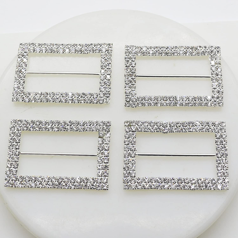 AngHui ShiPin 1 year warranty Tucson Mall 10pcs 40X28mm A-Grade Shape Silver Rectangle Doubl