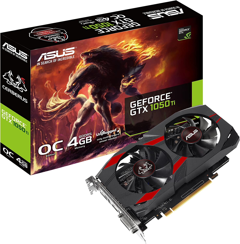 ASUS CERBERUS-GTX1050TI-O4G GeForce GTX 1050 Ti 4 GB GDDR5 - Tarjeta gráfica (GeForce GTX 1050 Ti, 4 GB, GDDR5, 128 bit, 7680 x 4320 Pixeles, PCI Express 3.0)
