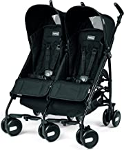 Peg Perego Pliko Mini Twin Baby Stroller, Onyx