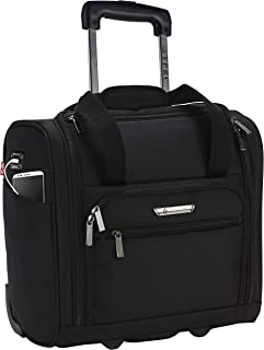 "TPRC 15"" Smart Under Seat Carry-On Luggage with USB Charging Port, Black Option"