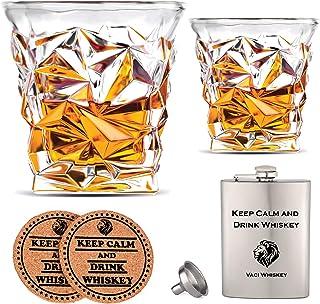 Vasos de whisky de vidrio Vaci – Juego de 2 vasos de