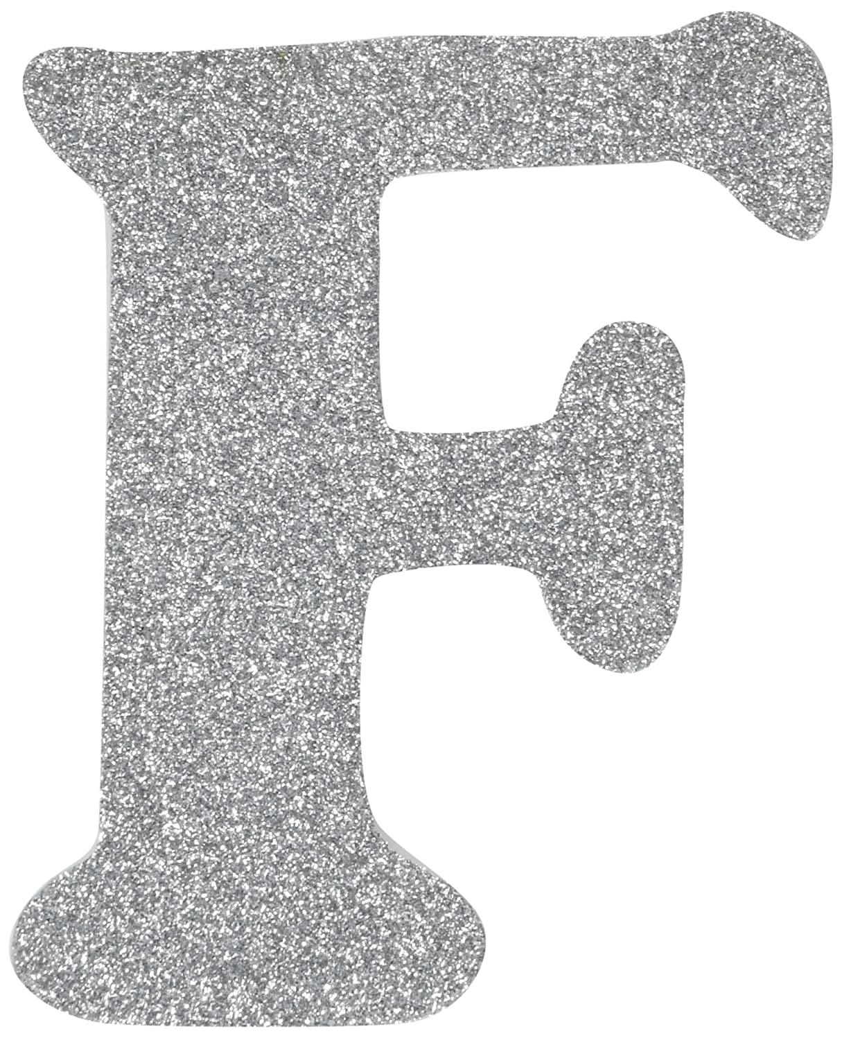 Darice 9190-964F Wood Letter F, Assorted Glitter