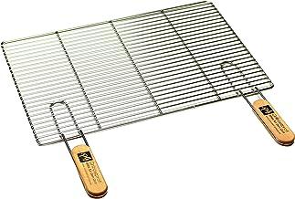 PG Metalltechnik Edelstahl Rost Grillrost - rechteckig und rund - Grill Rost Grössenauswahl 54 x 34 cm mit Griffen