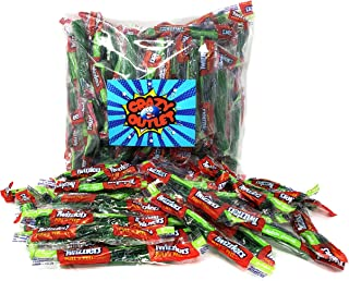 CrazyOutlet Pack - Twizzlers Green Apple Pull 'n' Peel Licorice Twist Candy, Soft and Chewy Fun Size Candy, Individually Wrapped Bulk Pack, 2 Lbs