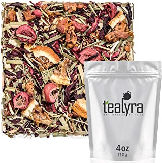 Tealyra - Red Hot Cranberry - Hibiscus - Orange - Apple - Fruit Loose Leaf Tea - Herbal Infusion - Balance Blood Sugar - Hot and Iced - Caffeine-Free - 112g (4-ounce)