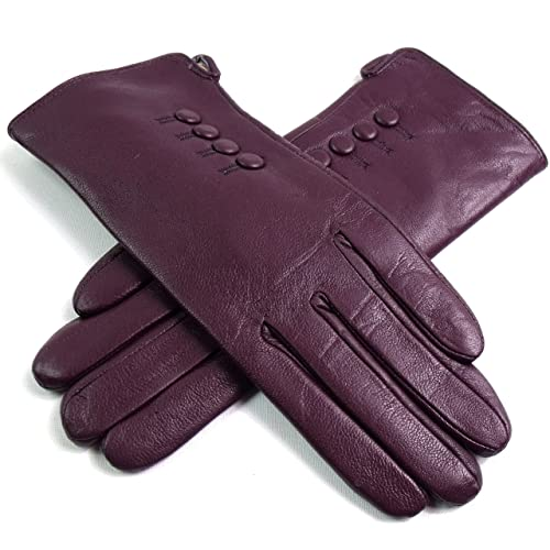 3405b79ef04c4 Ladies Womens New Super Soft Premium Luxary Genuine Bow Leather Gloves  Fully Lined Winter Warm Everyday