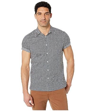 Perry Ellis Portfolio Stretch Mini Geo Print Shirt (Bright White) Men