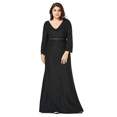 d30b156344b myfeel Plus Size Formal Party Dress Sequin Elegant Heaps Collar Evening  Dress