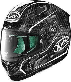 X-Lite Unisex Adult X-802RR Marquetry Carbon White Full Face Helmet XU85273850192