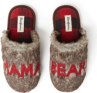 Dearfoams Furry Mama Bear Scuff, Pantofole Donna