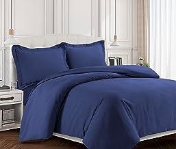 Tribeca Living VALENDUVETTWDB Valencia Solid Duvet Cover Set, Twin Dark, Moonlight Blue