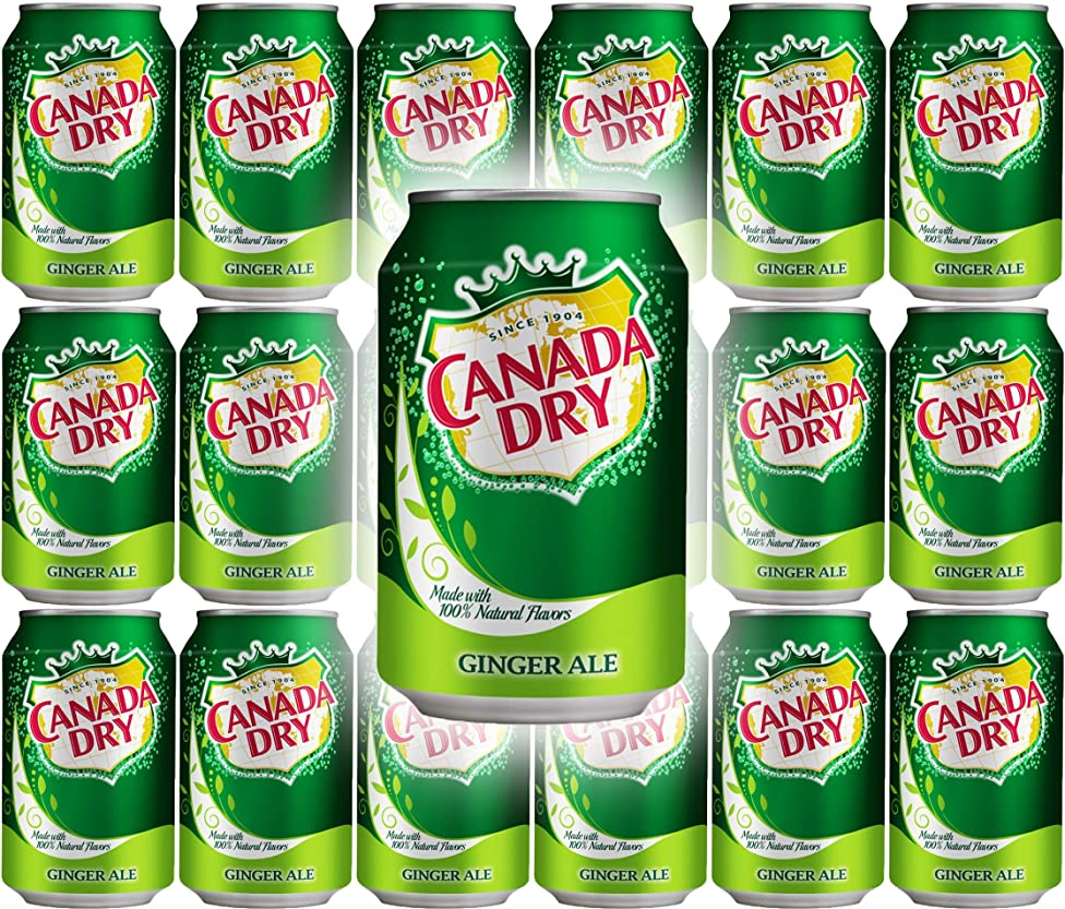 Canada Dry Ginger Ale, 12oz Can (Pack of 18, Total of 216 Oz)