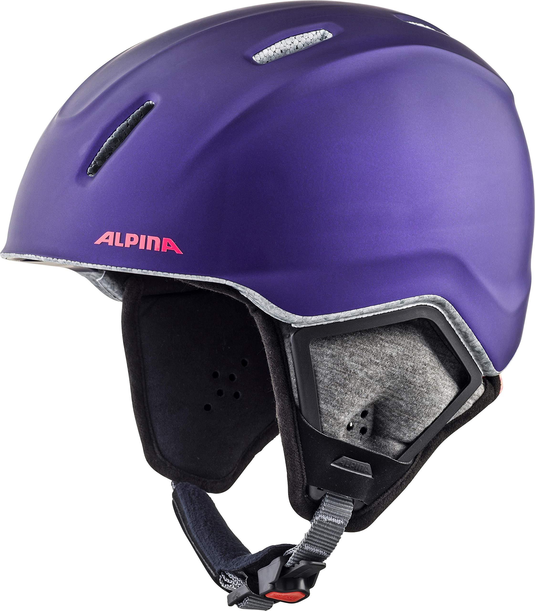 ALPINA Unisex - Kinder, CARAT XT Skihelm, royal-purple matt, 51-55 cm