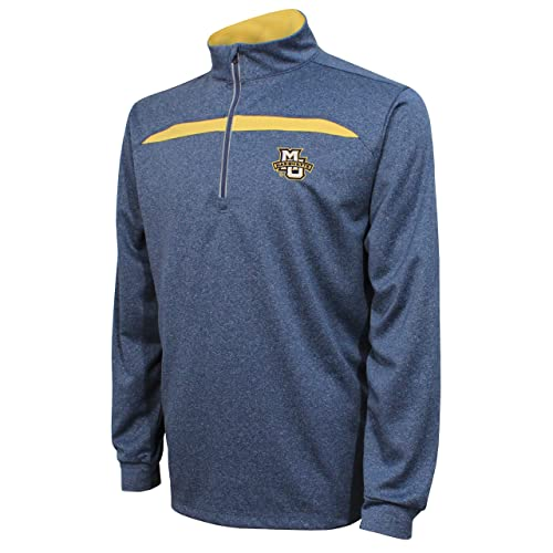 b7c83ea9483b23 Crable NCAA Men s Quarter Zip with Contrast Panel