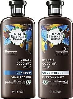 Herbal Essences Bio Renew Haircare - Hydrate - Coconut Milk - Shampoo & Conditioner Set - Net Wt. 13.5 FL OZ (400 mL) Per Bottle - One Set