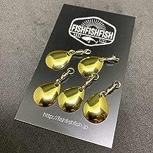 【FISHFISHFISH】コロラドブレード 5枚セット Mサイズ メタリック カラー/ルアー改造 メタルジグ スピナー スピンテール用 ブレードチューン
